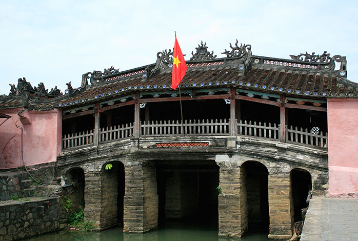 Traditional VIetnamese bridge in Hoi An.