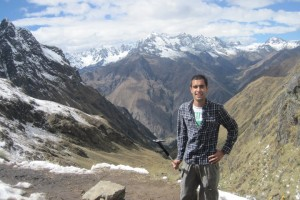 "Deepak Tailor, author of ""How to Live for Free"" en route to Machu Pichu."