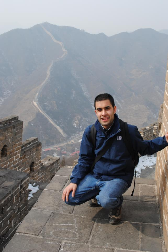 Deepak Tailor, How to Live for Free author, at the Great Wall of China.
