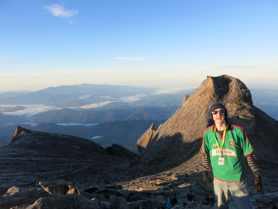 Jonny Blair at Mt Kinabalu, Malaysia.