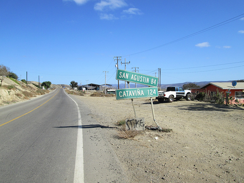The road from El Rosario to Catavina, Baja California.
