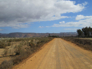 Dirt road in San Quintin, Baja California.