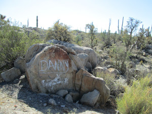 Rock in Catavina, Baja California.