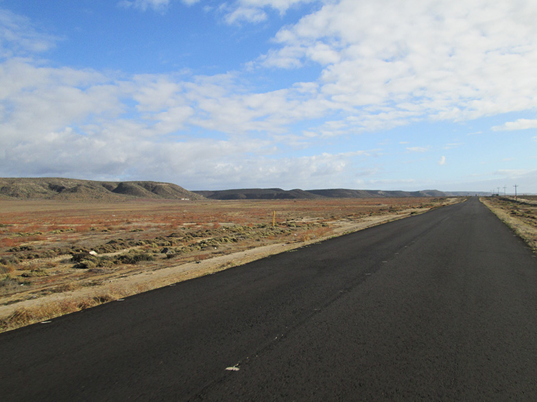 Road from San Quintin to El Rosario, Baja.