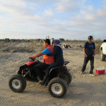 Celebrating the Baja 1000 in San Quintin.
