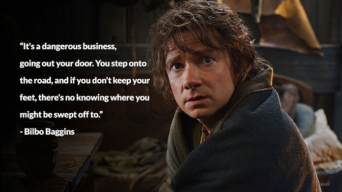 Bilbo Baggins helped save Middle Earth during this travels.