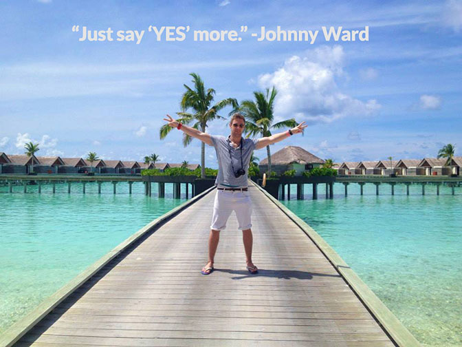 Johnny Ward has traveled to over 100 countries, and is inspiring new travelers every day.