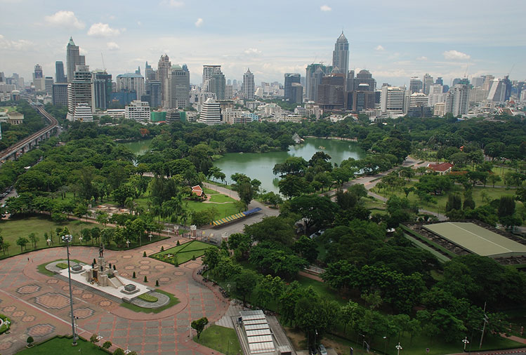 Lumphini Park, at the heart of Bangkok.