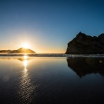 Sunset at Wharariki Beach (Northern Most in South Island)