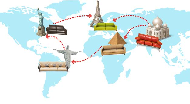 Use Couchsurfing as a cheap way to travel around the globe.