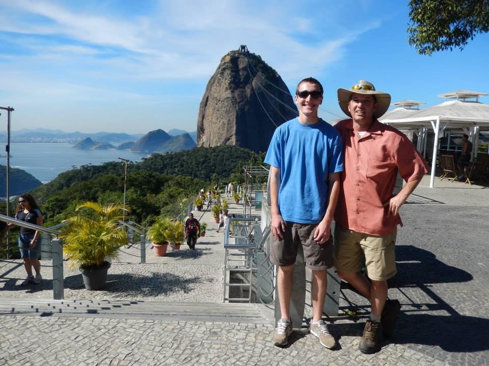 Grady Hicks and Austin at Sugar Loaf Mountain, Rio de Janeiro