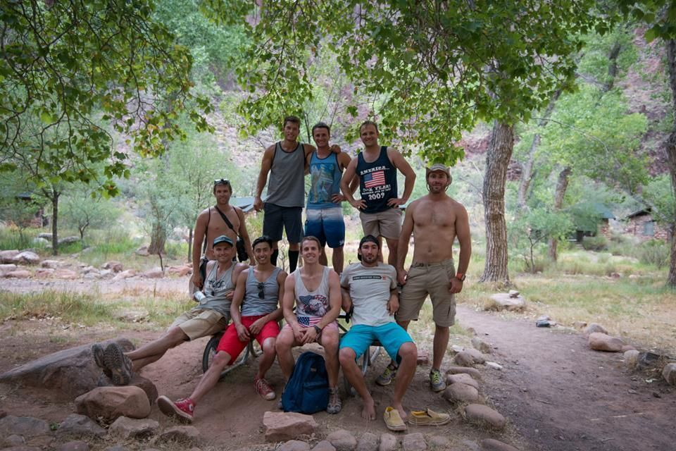 Danny Flood and friends at Grand Canyon.