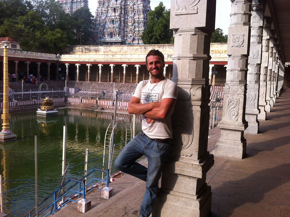 Danny Flood in Madurai, India.
