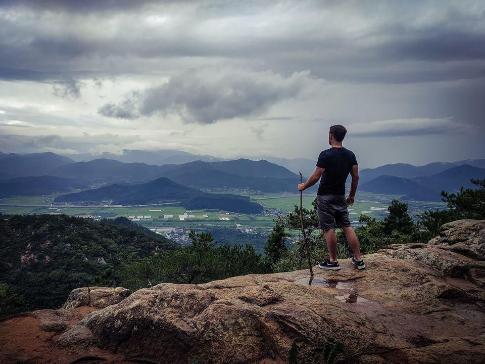 Hiking at Namsan in Gyeongju.