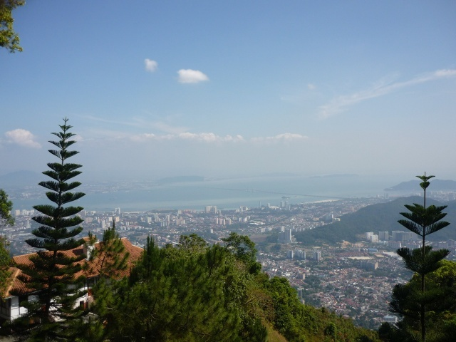 View of Georgetown from Penang Hill.