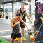 Lars, goofing off during Songkran.