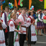 Locals on parade in Minsk.