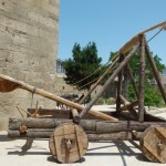A catapult, a siege assault weapon of the ancient world