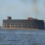 Naval fortress on Kronstadt Island.