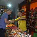 Weapons and arms shop at the Shaolin Temple.