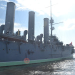 Cruiser Aurora floating museum, St Petersburg.