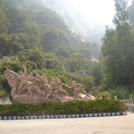 "Near Mt Huashan, the ""Flower Mountain"""