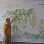 Illustration of Mt Huashan.