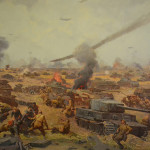 Graphic depicting the Battle of Moscow in WWII.