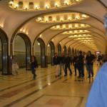 Moscow's underground metro.