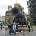 Christan buildings of Moscow, Russia with imperial cannon.