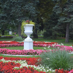 Garden in Moscow, Russia.