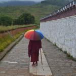 Monk near Songzanlin Monastery.