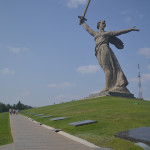 """The Motherland Calls"" statue in Volgograd."