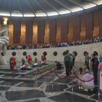 Soldiers tribute at Volgograd.