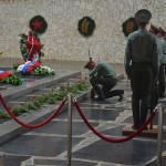 Memorial tribute at Volgograd.