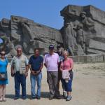 Memorial statues in Kerch.