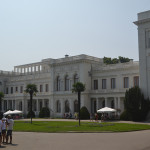 Outside the Livadia Palace near Yalta.
