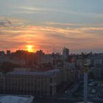 Sunset in Kiev.