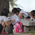 Children in Pyongyang, North Korea.