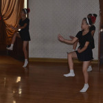 Girls performing ballet in Pyongyang.