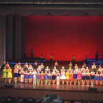 A children's performance in Pyongyang.