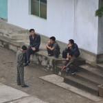Men in Pyongyang, North Korea.