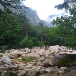 Mt Kumgang region in North Korea.