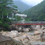 Bridge in Mt Kumgang region, in North Korea.