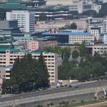 Buildings in downtown Pyongyang.