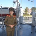 On board the USS Pueblo in North Korea.