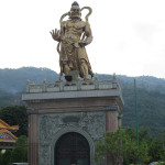Bronze statue in Penang, Malaysia.