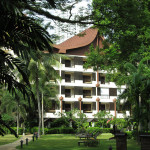 Hotel at Batu Ferringhi beach in Penang, Malaysia.