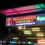 Red Garden foot court in Penang.