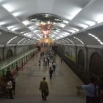 The metro train in Pyongyang, North Korea